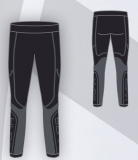 Термобелье детское-брюки HYRA.   Арт 9429 - black-anthracite