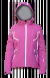 Горнолыжная куртка  HYRA  Арт.HLG1340-49 fuxia-white