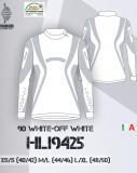 Термобелье женское-куртка  HYRA.   Арт: HLI9425 white off-white
