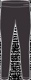 Термобелье женское-брюки  HYRA.   Арт: HLI9427-01-black