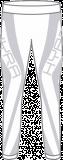 Термобелье женское-брюки  HYRA.   Арт: HLI9427-90-white-of-white