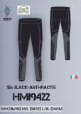 Термобелье мужское-брюки  HYRA.   Арт:HMI9422 black-anthracite